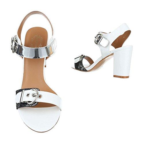 Design Ital Sandales pour femme Weiß AqvqUX