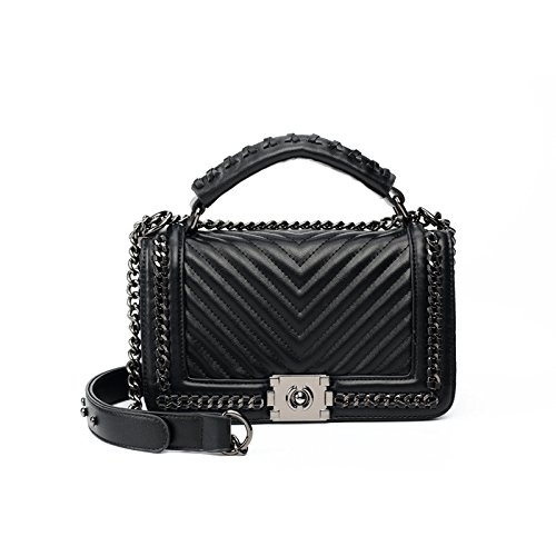 Nouveau Mode À De Bandoulière Wlfhm Hiver Chaîne Et Dames Coréen Automne Black Sac Messager 4awnxU