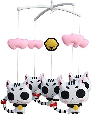 ベビーカーム、動物の種類、#02を保つためのベビーベッドハンギングベルミュージカルおもちゃ