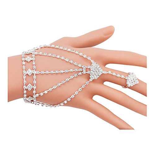 Boosic Wedding Accessory Rhinestone Bracelet