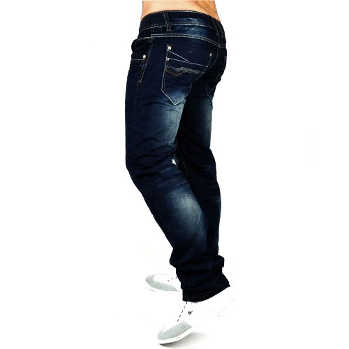 Herren Jeans Unleashed-Jeansnes ID602 Straight Fit (Gerades Bein)