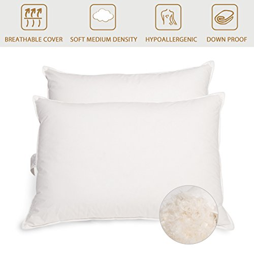 Peace nest Goose Feather and Down Pillows, 95% Feather And 5