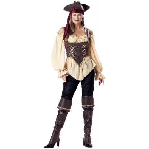 InCharacter Costumes Women's Rustic Pirate Lady Costume, Tan/Brown, Medium