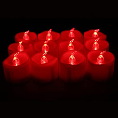 TBW 12-pcs Flameless LED Battery Powered Melted Edge Tealight Candles
