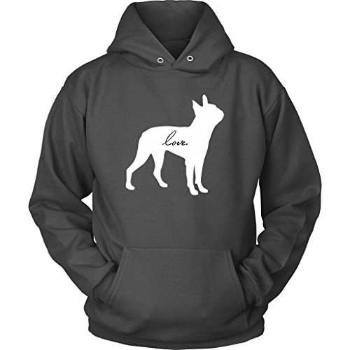 Boston Terrier Love Dog Puppy Pet Hoodie Sweatshirt (Mens Love Puppy Hoodie)