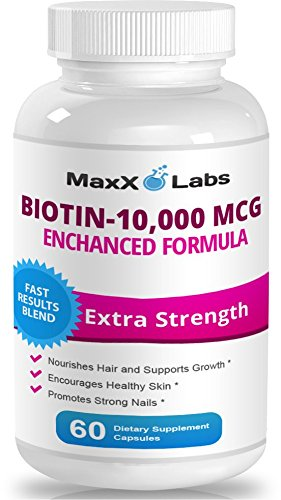 Amazon.com: Biotin 10,000mcg - Potent Hair Skin and Nails Vitamins ...