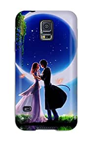 Galaxy S5 Case Slim [ultra Fit] Animated Boy And Girl Romantic Couple Protective Case Cover