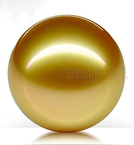 FidgetKute Huge 20mm Genuine Golden South Sea Shell Pearl Round Half Drilled Beads ()