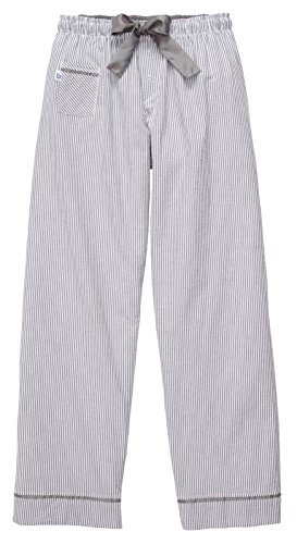 (Boxercraft Seersucker Casual Pant, Pajama Bottom, Adult Sizes, Charcoal Stripe Small)