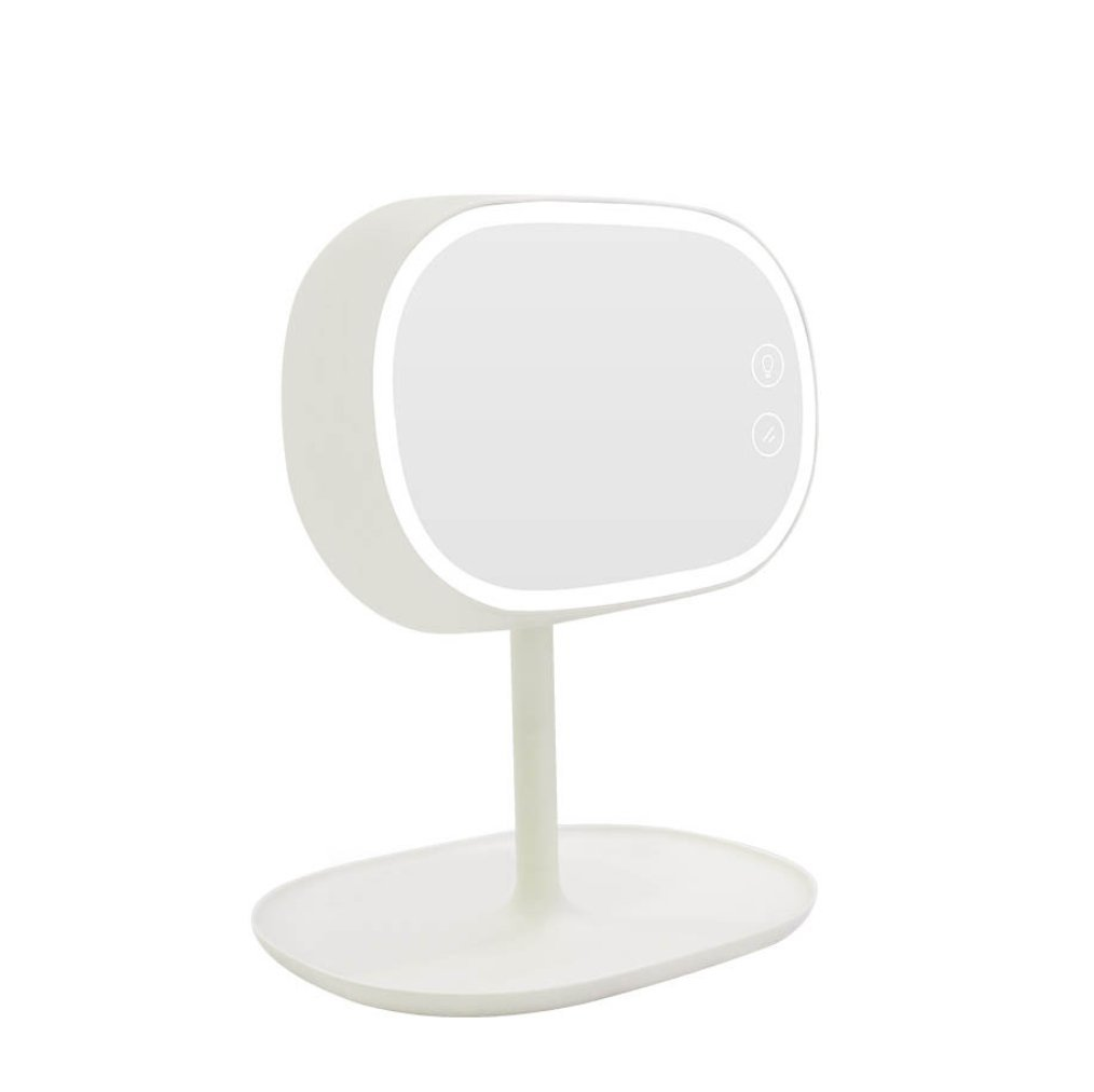 HAGDS Korean rechargeable mirror table lamp light dressing mirror lamp Bedside storage lamp Gift lightsNew Smart Sense Light (Color : White)
