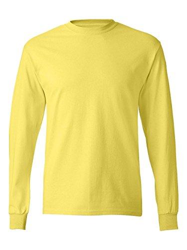 Hanes TAGLESS Long-Sleeve T-Shirt Yellow - Yellow Gear T-shirt