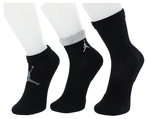 Jordan Mesh Waterfall 3 Pack Socks Boys Size 5Y-7Y (Ultimate Jordan Collection)