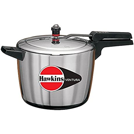 Hawkins Ventura Hard Anodised Black Base Pressure Cooker 6 1 2 Litre
