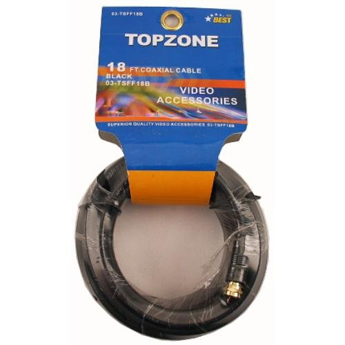Topzone 18 feet RG59 Coaxial Cable