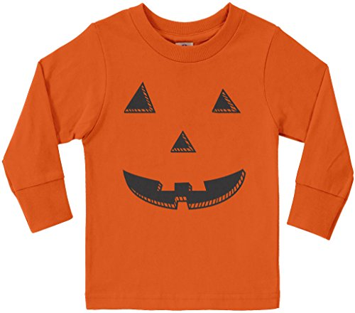 Threadrock Little Boys' Halloween Pumpkin Face Long Sleeve