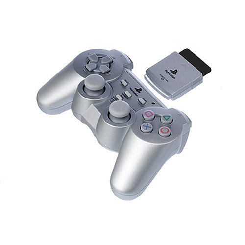 (Officially Licensed PS2 Wireless Controller - Silver)