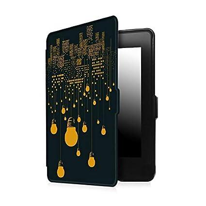 Hosaire 1x Kindle Paperwhite Funda - Luz Amarilla en el Cielo ...