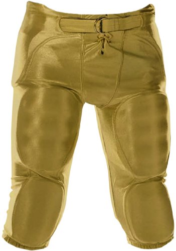 Don Alleson Youth Dazzle Football Pants (Vegas Gold, Extra-Large) (Alleson Don Apparel)