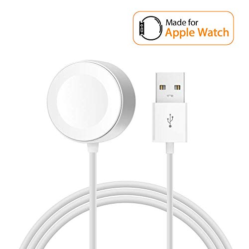 Saleward iWatch Charger Compatible with Apple Watch, 3.3FT Magnetic Portable Watch Charger Cable Cord Replacement for Original Apple Watch Series 2/3/Nike+/Edition by Saleward