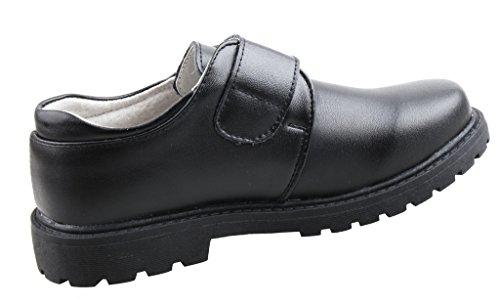 Image of Boys Leather Black School Uniform Dress Oxford Outdoor Shoe(Toddler/Little Kid/Big Kid)