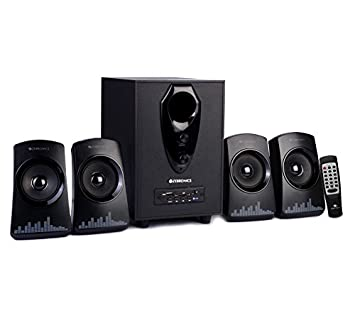 Zebronics ZEB-Feel 4.1 Multimedia Speakers (Black) Multimedia Speaker Systems at amazon