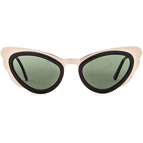 Spitfire Apex Sunglasses Cat Eye Frame Metallic Aviator - Shades Quay