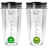 Blend Pro 24 oz Cup with Sip & Seal Lid Replacement Compatible with Nutri Ninja 24 oz Cups for Blender Bl450 BL454 Auto-iQ BL