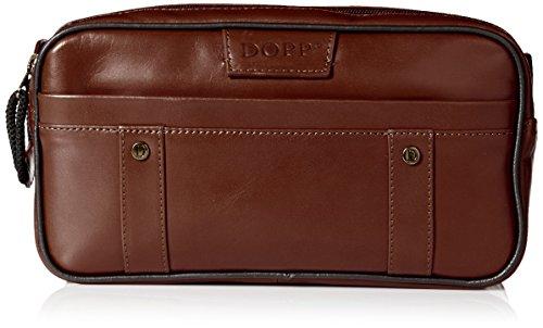 Dopp Men's Veneto Soft Sided Multi-Zip Travel Kit-Leather