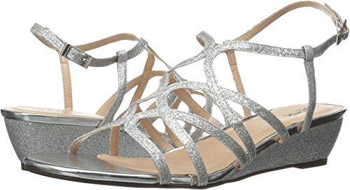 Pink Paradox London Women's Opulent Wedge Sandal,Silver G...