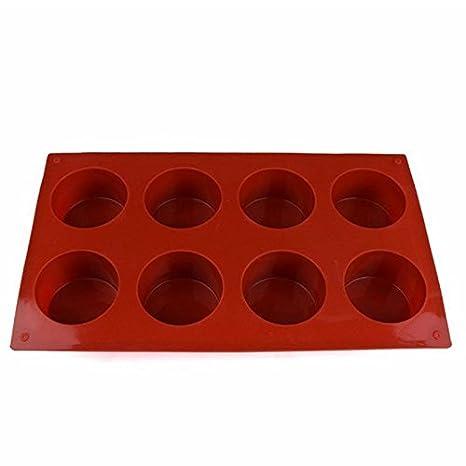 SODIAL Torta de jabon del Molde del Molde de Silicona Molde cilindrico a Mano, para