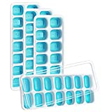 VicTsing 4Packs Ice Cube Trays, 【 Better Sealing】 Upgraded Ice Cube Trays, Easy-Release