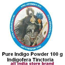 Indigo Powder ALL INDIA STORE BRAND 4 x 100 Grams Bags (14 oz total)Indigofera Tinctoria (wasma in Arabic and Urdu) Last Crop - by All India Store (Image #4)