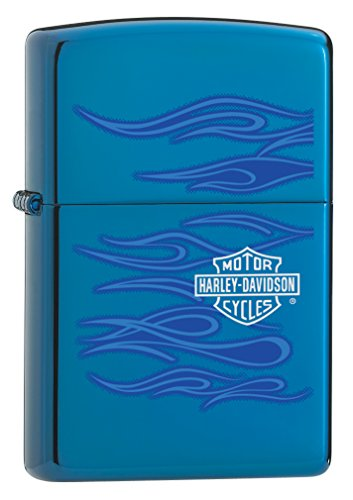 "Zippo ""Harley-Davidson Ghost"" Lighter with Sapphire Finish"