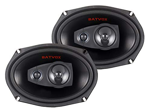 BATVOX 6x9 Inch, 3 -Way Car Audio Premium Automotive Speaker Mesh Grills Full-Range Coaxial Car Speakers, Set of 2Easy Mounting