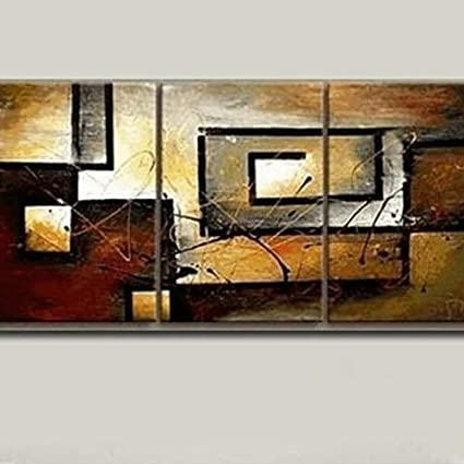 Amazon.com: Mon Art 100% Hand Painted Oil Painting Abstract Art ...