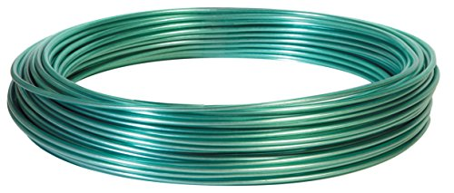 Hillman Fasteners 122100 100-Feet Green Vinyl Jacketed Clothesline Wire