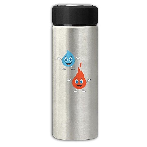Water And Fire Cartoon Frosted Stainless Steel Vacuum Insulated Tumbler Travel Mug Business Mugs