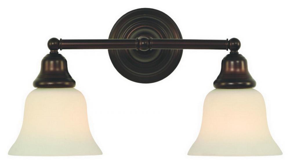 Dolan Designs 492-30 2Lt Bath Royal Bronze Brockport 2 Light Bathroom Fixture
