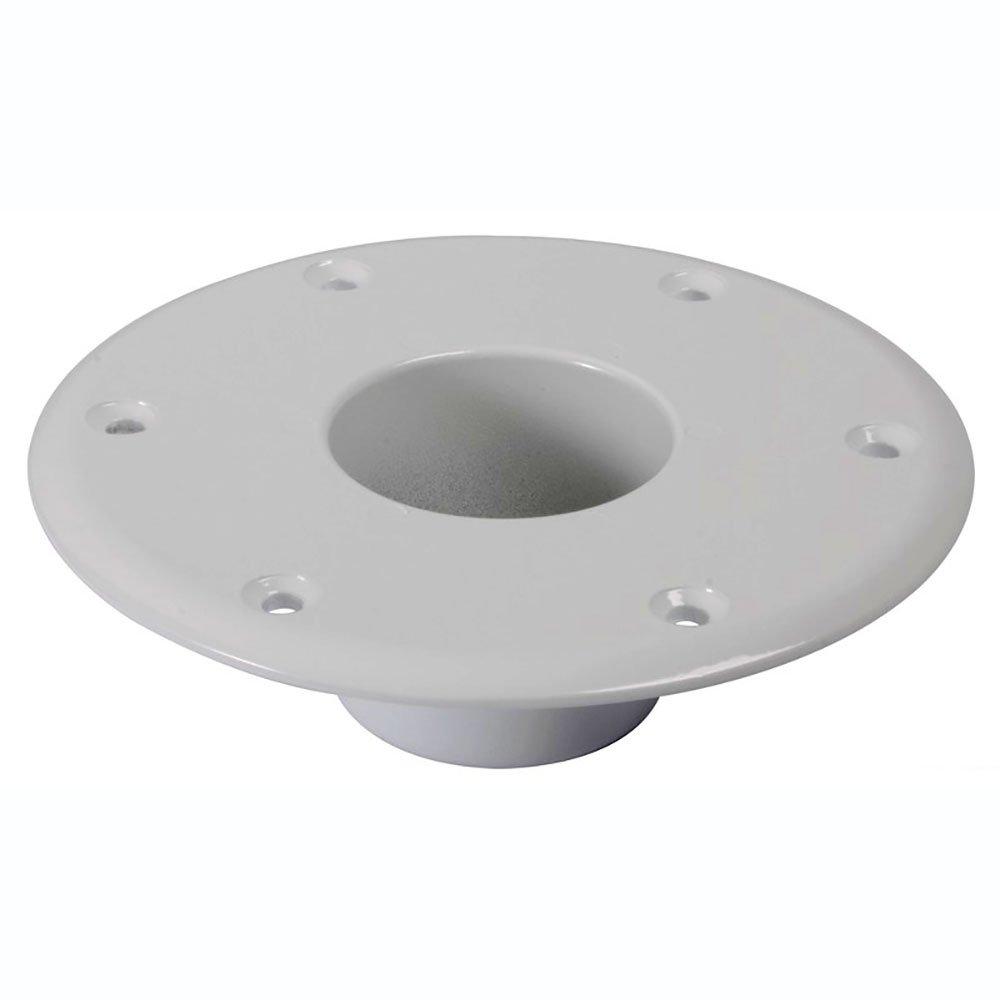 Base alluminio bianco pavimento per tavolo Osculati