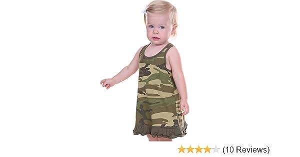8b45ae14ea8fd Amazon.com: Kavio! Infants Girls Camouflage A-Line Tank Dress: Clothing