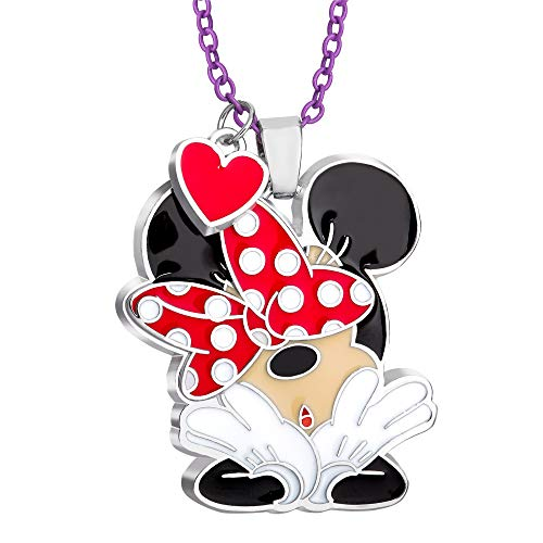 Disney Minnie Mouse, Fashion Necklace with Signature Polka Dot Bow