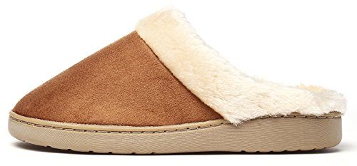 Pantofole Da Zoccolo Da Passeggio Infradito Invernali Kushyshoo Da Donna Tan
