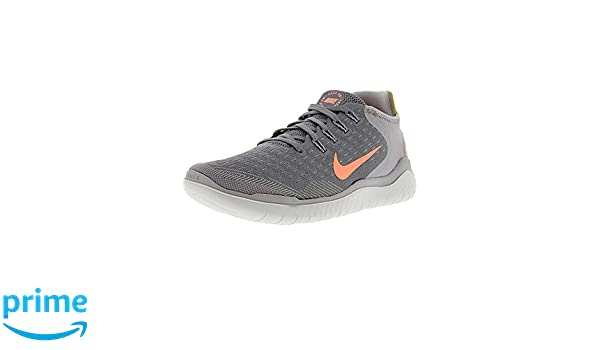 3a07c87592cb0 Amazon.com  Nike Women s Free Rn 2018 Gunsmoke Crimson Pulse Ankle-High  Running Shoe - 5M  Nike  Sports   Outdoors