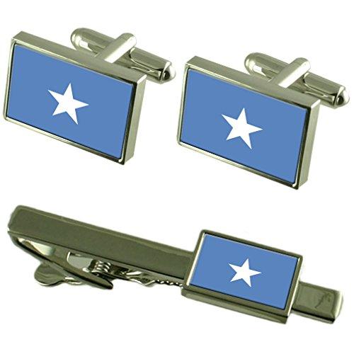 Boutons de manchette Drapeau somalie-cravate un Ensemble cadeau correspondant