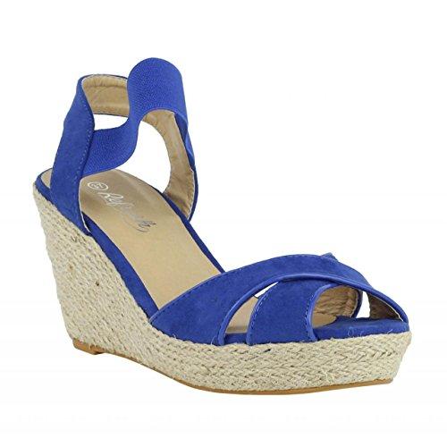 Zapatos de AZUL ANT REFRESH Mujer cuña de 61953 TzqTF