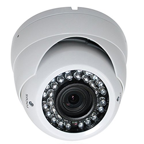 SPT INS-D1200W Outdoor 3 Axis IR Dome Camera, 1000TVL 2.8mm to 12mm Varifocal Lens, 36 Pieces LED (White)