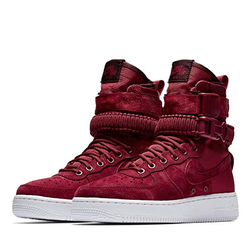 Af1 Red Burgundy Crush White Red Crush NIKE Multicolore Basketball Femme Crush W SF de 601 Chaussures qPPFEvf