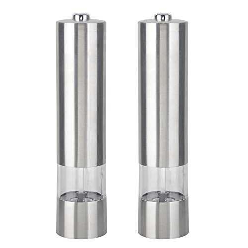 2pcs Stainless Steel Pepper Grinder