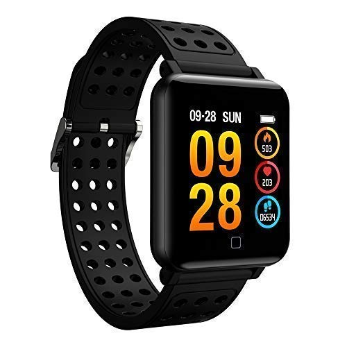 SZSCLMKJ Fitness Tracker, Smart Bracelet & Fitness Watch with Heart Rate, IP67 Waterproof & Swim Tracking, Compatible with Bluetooth 4.0 or Above M19-1: ...