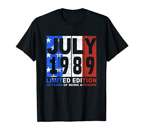 Vintage July 1989 Shirt American Flag 4th Of July Tshirt -